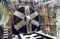 Deep Tunnel Sewerage System-굴착완료후 Shield Machine 노출장면