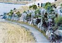 북악배수지터널-유입부 자연석 옹벽