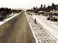 경부고속도로 초기 시공 모습