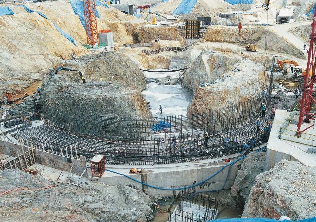 원자로 건물 기초 작업