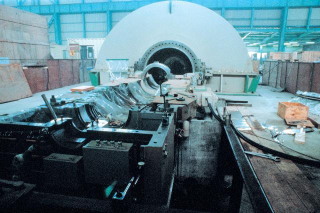 서인천복합화력발전소_Gas turbine installation