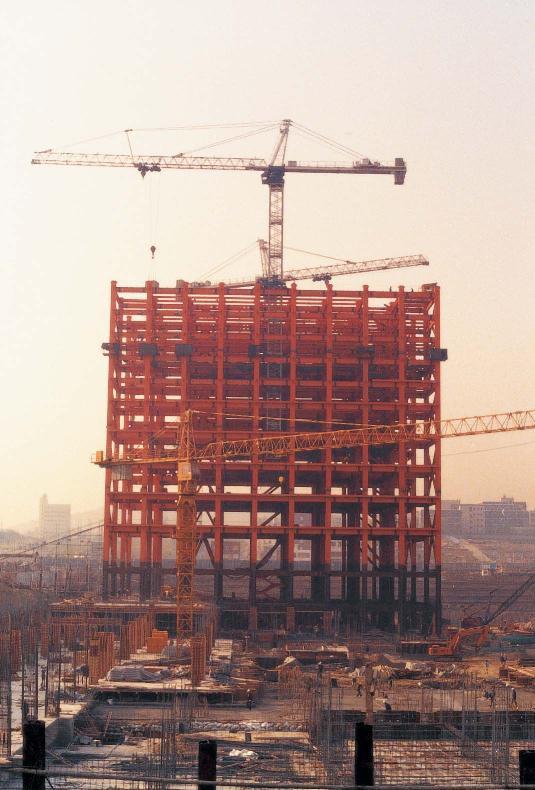 Trade Tower 철골 시공