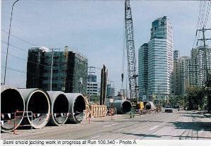 방콕 하수처리장_차집관로 공사장면