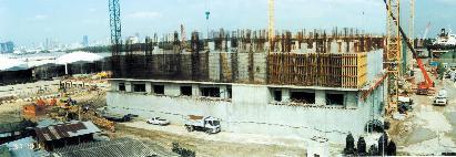 방콕 하수처리장_처리시설 공사장면