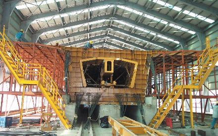 대만 고속철도_PC Viaduct Mould 조립 및 Pretensioning 준비 작업